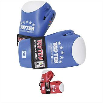 Top ten open hand superfight itf gloves blue