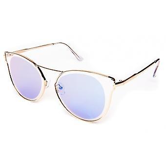 Gafas de sol Unisex hielo azul/oro