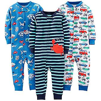 Simple Joys by Carter's Baby Boys' 3-Pack Snug Fit Footless Cotton Pajamas, C...