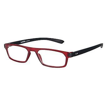 Leesbril Unisex Duo Rood/Zwart Dikte +1.00 (le-0182D)