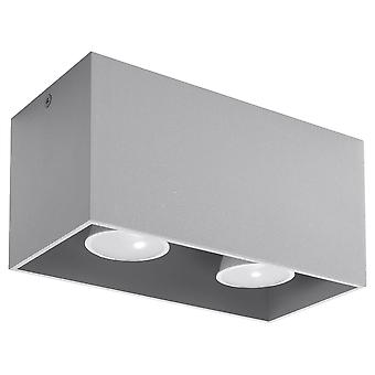 2 Light Ceiling Grey, GU10