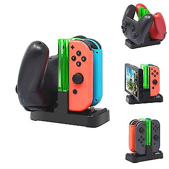 4 In1 Charging-dock Per il caricatore a guida Joy-con per Nintendo Switch Pro Gamepad-charge-stand Ns Switch (nero)