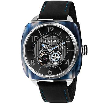 Briston Streamliner Skeleton Black Dial Black Leather Strap 201042.SA.BL.1.CH Men's Watch