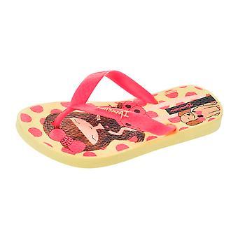 Ipanema Dotty Girls Beach Flip Flops / Sandalen - gelb und rosa