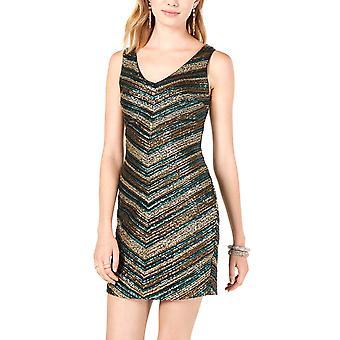 As U Wish | Chevron Sequin Bodycon Dress
