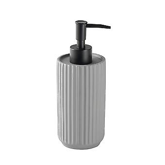 Liquid Soap Dispenser - Kitchen Bathroom Pump Bottle for Sanitiser, Lotion, Shower Gel - Concrete - Grey