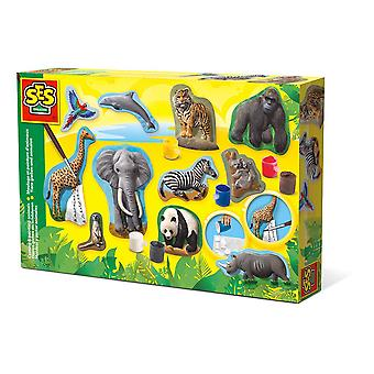 SES Creative Children's Animals Casting and Painting Set (1132)