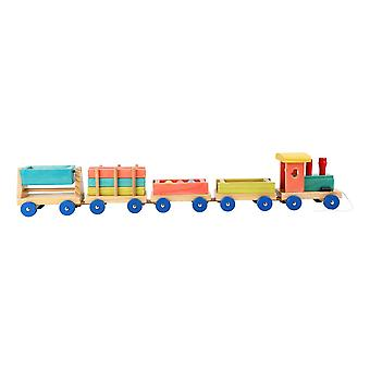 Legler Small Foot Children's Wooden Emil Train Playset Unisex Multi-color 1128
