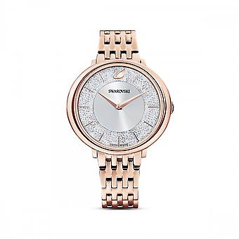 Swarovski Crystalline Chic Metal Rose Gold-tone White Watch 5544590