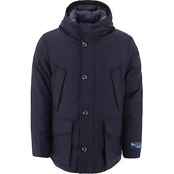 Woolrich Woou0267mrut23473989 Men's Blue Wool Outerwear Jacket