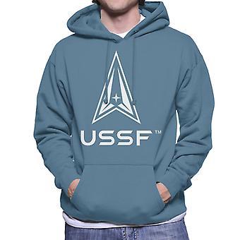 U.S. Space Force Light Logo USSF Light Text Men's Hooded Sweatshirt