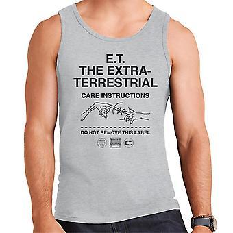 E.t. Las instrucciones de cuidado extraterrestre Hombres's Chaleco