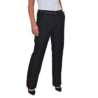 Women's Bootcut Work Trousers Ladies Smart Business City Formal Straight Leg Pants 8-22