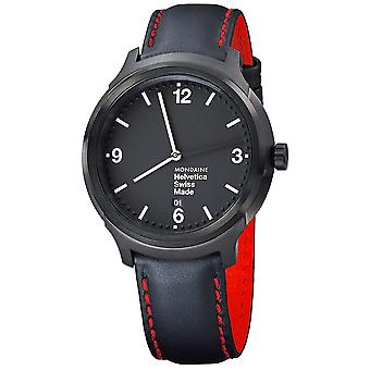 Mon helvetica bold ny edition watch for Swiss Quartz Analog Men with cowhide bracelet MH1. B1221.LB