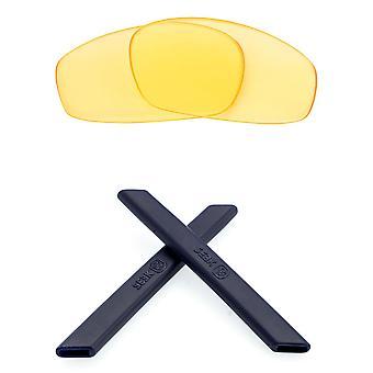 Replacement Lenses & Kit for Oakley Split Jacket Yellow & Navy Blue Anti-Scratch Anti-Glare UV400 by SeekOptics