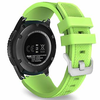 for Samsung Galaxy 42mm / 46mm Watch Wristband Bracelet Band Strap Silicone[46mm,Green]