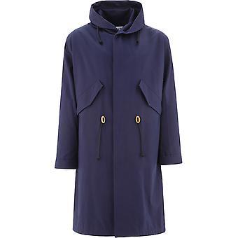 Loewe H526336x575110 Hombres's Blue Cotton Coat