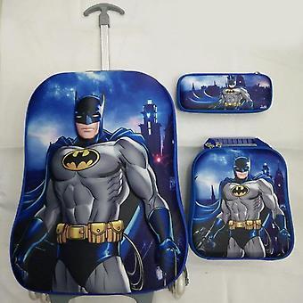 Gepäcktaschen/Kinder Eva Wheeled Student Cartoon Batman Design Trolley Schule