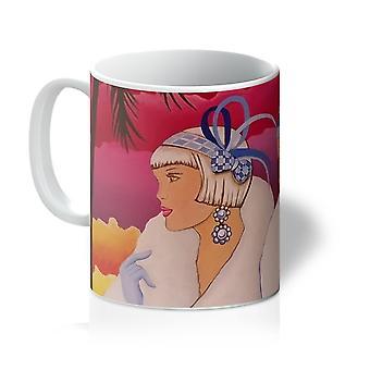 Palm Beach Blue Art Deco Mug