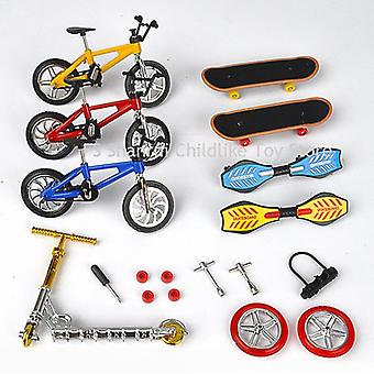 Mini Two Wheel Scooter Finger Skateboard- Éducatif