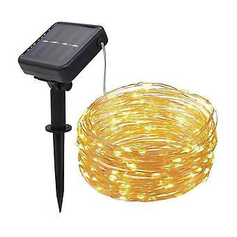 Led Solar Copper Wire Lamp, Outdoor Solar Fairy Lights For Wedding