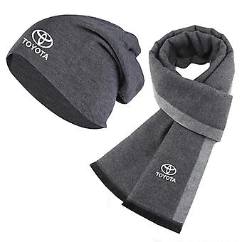 Winter Toyota Car Logo Warm Cotton Sports Hat Scarf.