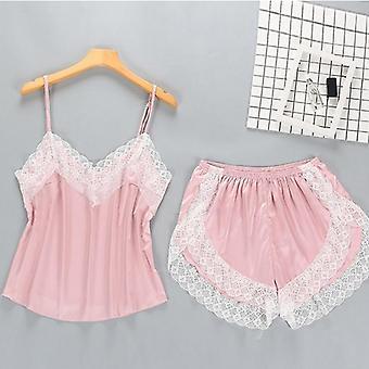 2 Pièces Pyjamas Set Women Lace Lingerie Set Solid Soft Sexy Nightwear