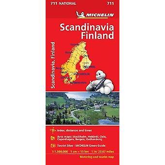 Scandinavia  Finland  Michelin National Map 711 Map Michelin National Maps 711
