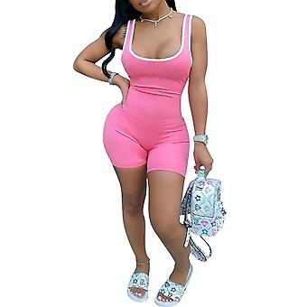 Sexy Women Sports Summer Sleeveless Romper Jumpsuit Pantalon short