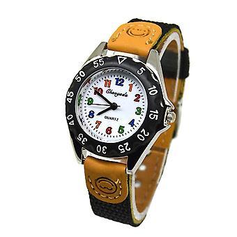 Newly Cute Quartz Watch Kids's Fabric Strap Student Time Clock