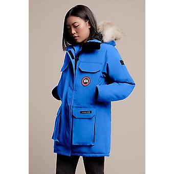 Canada Goose Womens Pbi Blue Expedition Parka Fusion Fit Winter Hooded Warm Coat