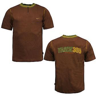 Nike Miesten Rata 365 T-paita Neljännes Vetoketju Kaulus Top Ruskea 180698 201 A95C