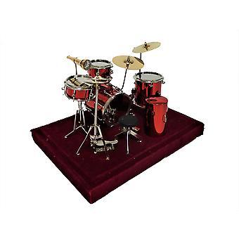 Dolls House Red Drum Kit Set Miniature Music Room Pub Furniture 1:12