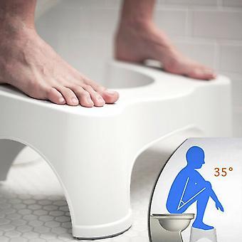 כריעה שרפרף שירותים 9 אינץ' ללא החלקה חדר אמבטיה צעד למעלה שרפרף מקל על עצירות נפיחות | יישור המעי הגס להקלה קלה יותר
