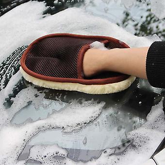 Auto waschen Wolle Handschuhe, Reinigungswerkzeuge Wipe Waxing - getragenes Reinigungsmittel sauber