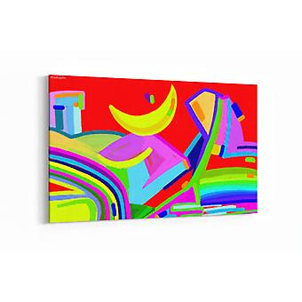 Schilderij - Digitale kunst abstract kleurrijk — 90x60cm