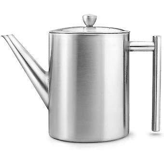 Bredemeijer Teapot Cylindre 1,2L, Satin Finish, Stainless Steel, Silver