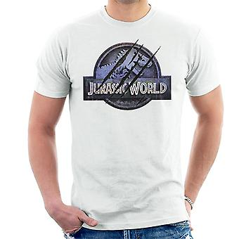 Jurassic Park Jurassic World Logo Claw Marks Men's T-Shirt