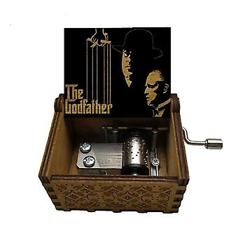 Arrival Figure Print Wooden Hand  The Godfather Music Box Christmas Birthday