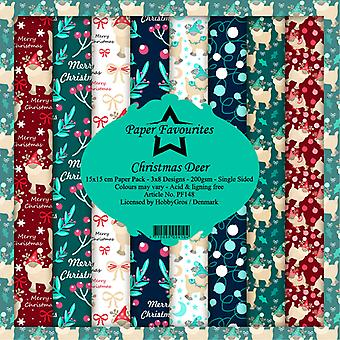 Paper Favourites Christmas Deer 6x6 Inch Paper Pack