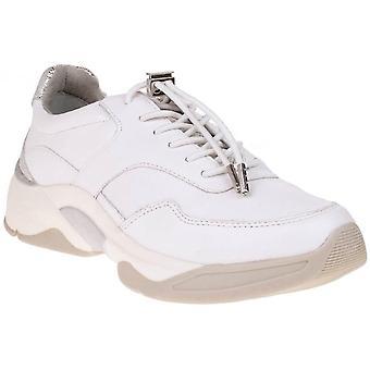 Wht Silver Str flache Schuhe