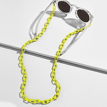 Fashion Eyeglass Chains Wide Acrylic Anti-slip Adjustable Eyewear Cord Holder