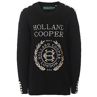 Holland Cooper Crest Embroidered Knit Jumper