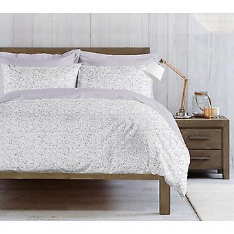 Parure Duvet Cover Mandy White Color, Cotton Purple, L150xP200 cm, L50xP80 cm