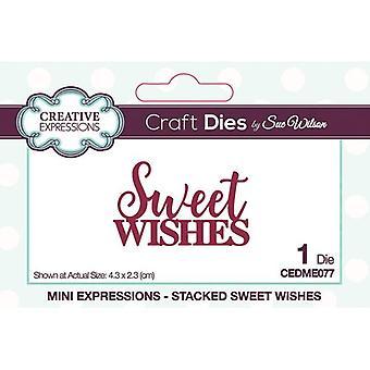 Creative Expressions Mini Expressions -kokoelman leikkaus kuolee - Makeat toiveet