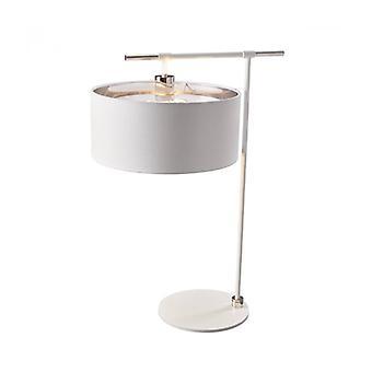 Lámpara De Equilibrio, Níquel Pulido, Con Pantalla Blanca