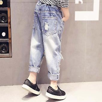 Dzieci Long Style Cotton Jeans Jeans Spodnie Spodnie