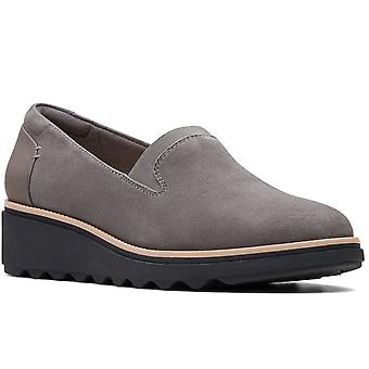 Clarks Sharon Dolly Wide Fit Casual Slip On Shoes