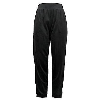 Carole Hochman Women's Pajama Pants Pullover Waistband Jogger Black A382018