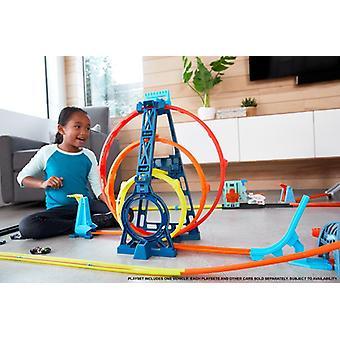 Hot wheels track builder triple loop set